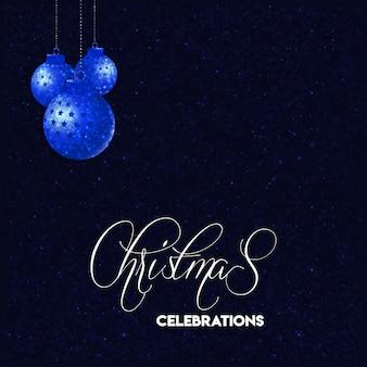 Projekt kartki świąteczne z eleganckim i ciemnym tle