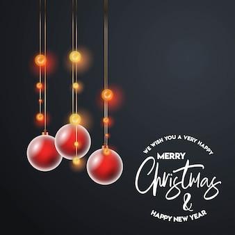 Projekt kartki świątecznej o eleganckim wyglądzie