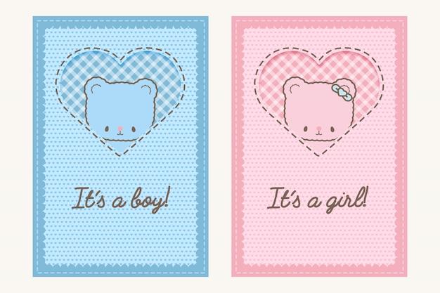 Projekt karty baby shower. ilustracja.