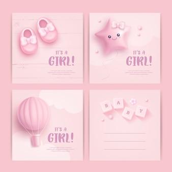 Projekt karty baby shower