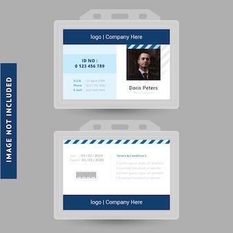 Projekt karty identyfikacyjnej biura