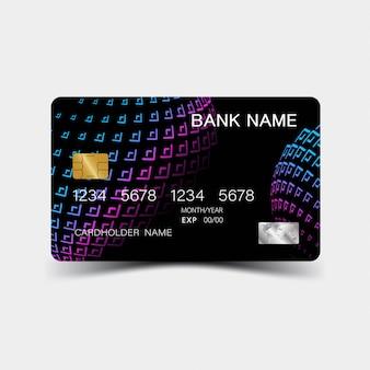Projekt karty kredytowej gradientu fioletowy.