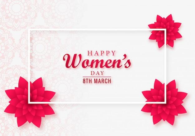 Projekt karty piękny dzień kobiet