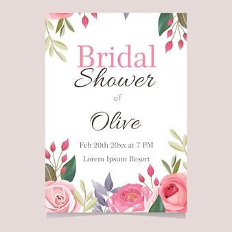 Projekt karty prysznic dla nowożeńców