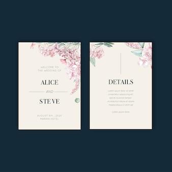 Projekt karty ślub tajskie kwiaty