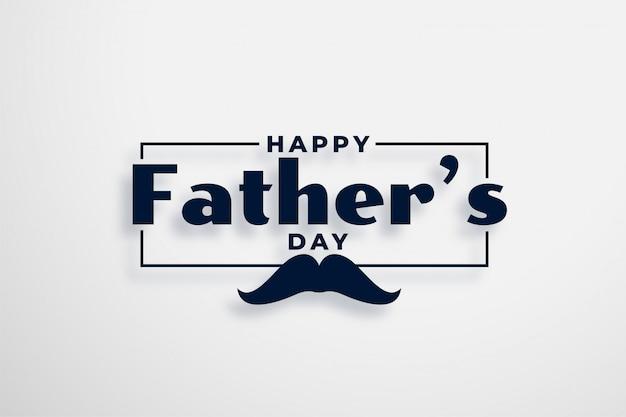 Projekt karty szczęśliwy dzień ojców w eleganckim stylu
