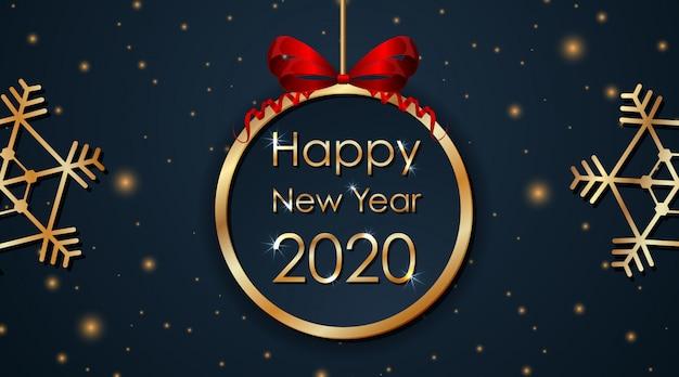 Projekt karty z pozdrowieniami na nowy rok 2020