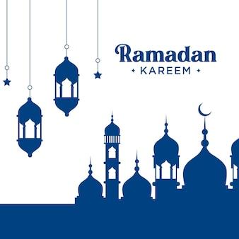 Projekt karty z pozdrowieniami ramadan kareem