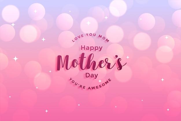 Projekt karty z pozdrowieniami szczęśliwego dnia matki