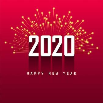 Projekt karty z pozdrowieniami szczęśliwego nowego roku 2020
