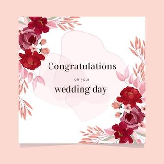 Projekt karty z pozdrowieniami szczęśliwy ślub