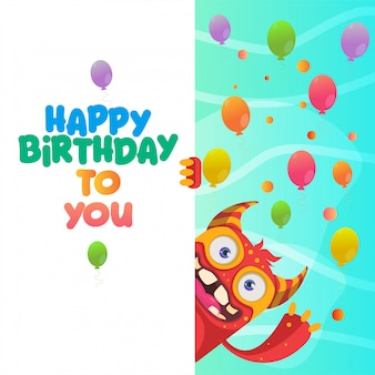 Projekt karty z pozdrowieniami wszystkiego najlepszego z okazji urodzin