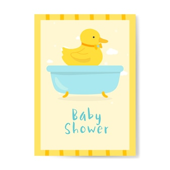 Projekt karty zaproszenie na baby shower