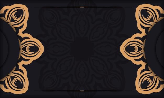 Projekt karty zaproszenie z greckimi wzorami. czarny szablon transparent z rocznika ozdoby i miejsce na swój projekt.