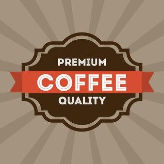 Projekt kawy na szarym tle ilustracji wektorowych
