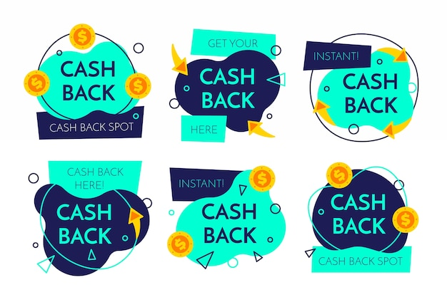 Projekt kolekcji etykiet cashback