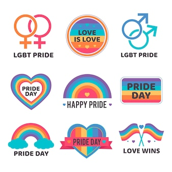 Projekt kolekcji pride day lables