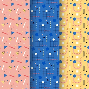 Projekt kolekcji wzorów memphis