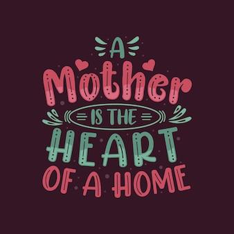 Projekt kolorowy napis na dzień matki