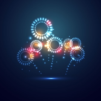 Projekt kompozycji kolorowych fajerwerków
