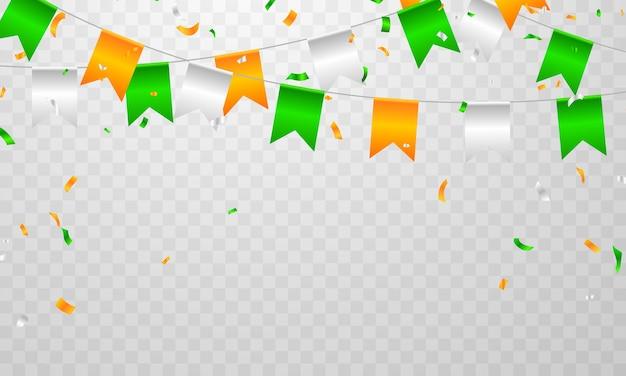 Projekt koncepcyjny independence day india graphics. powitanie tło.