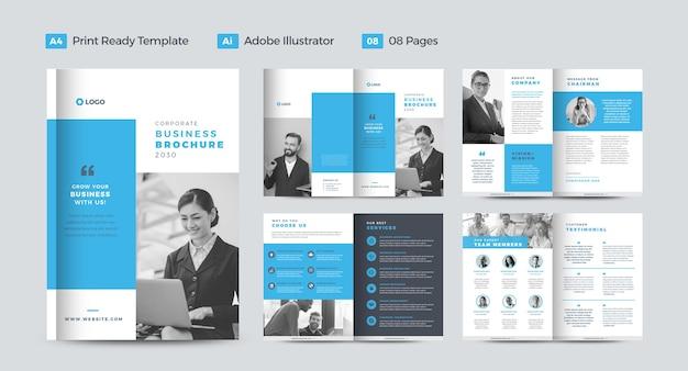 Projekt korporacyjnej broszury biznesowej lub raportu rocznego i projektu profilu firmy lub projektu broszury i katalogu
