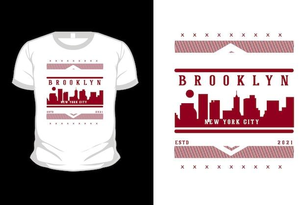 Projekt koszulki brooklyn new york city typografii