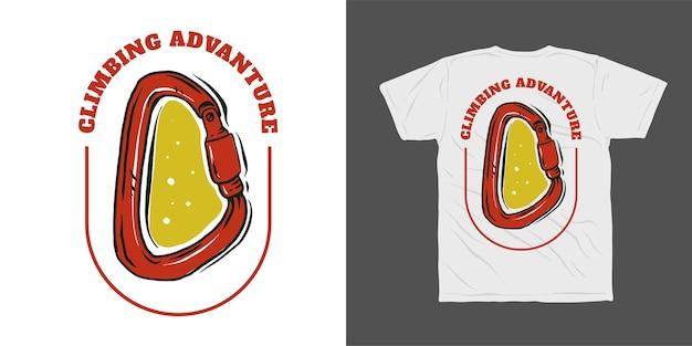 Projekt koszulki cimbing advanture