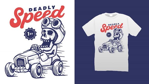 Projekt koszulki deadly speed