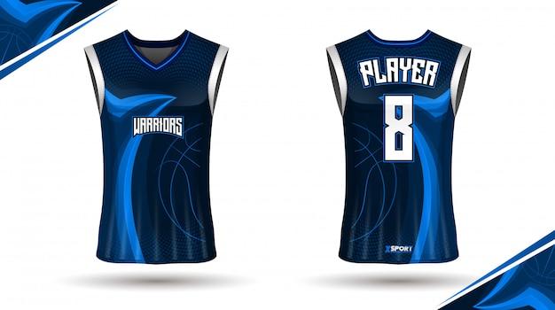 Projekt koszulki do koszykówki