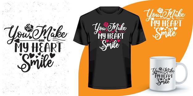 Projekt koszulki i kubka do kawy