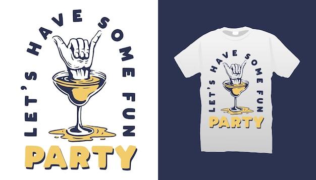 Projekt koszulki ilustracja koktajl