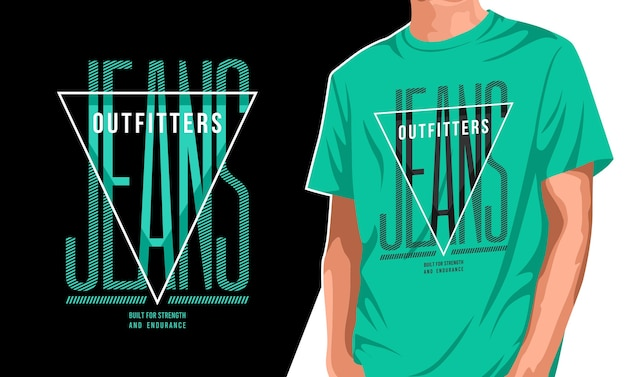 Projekt koszulki jeansowej outfitter