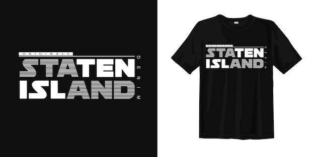 Projekt koszulki jeansowej staten island