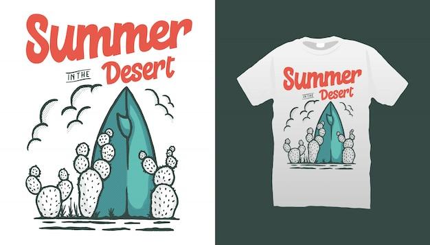 Projekt koszulki lato w pustyni