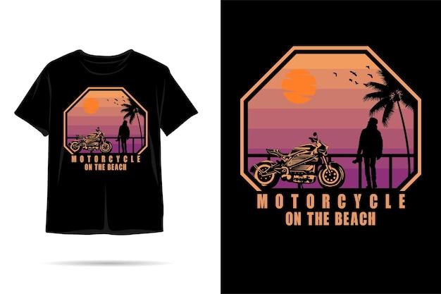Projekt koszulki motocyklowej na plaży