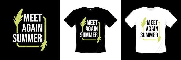 Projekt koszulki na lato lato na lato koszulka na wakacje