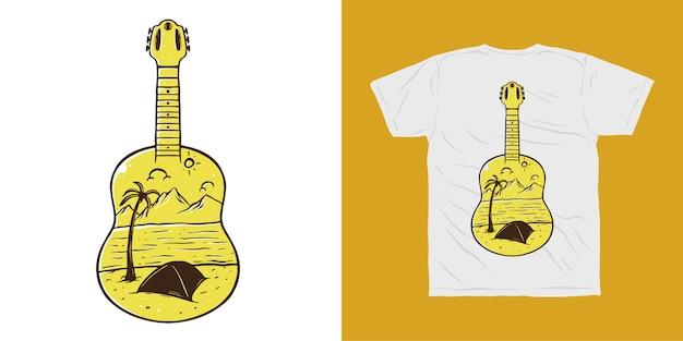 Projekt koszulki obóz przygód na gitarze