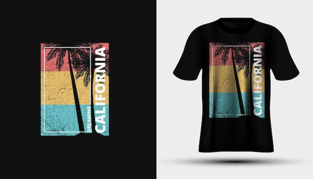 Projekt koszulki plażowej california