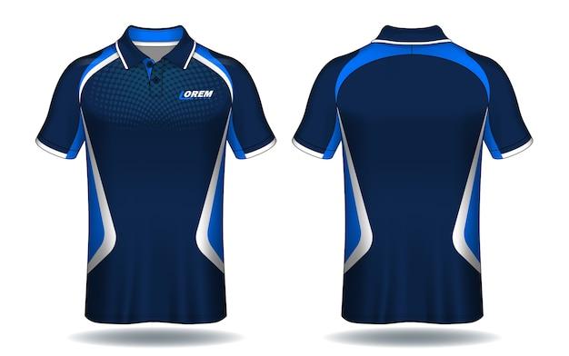 Projekt koszulki polo, szablon koszulki sportowej.