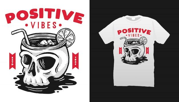 Projekt koszulki positive vibes