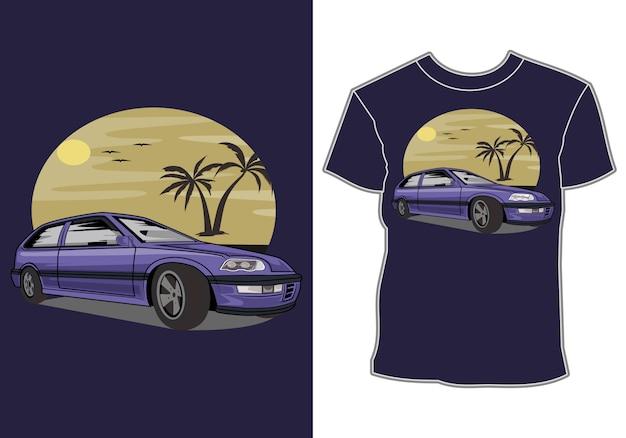 Projekt koszulki przemysłu samochodowego
