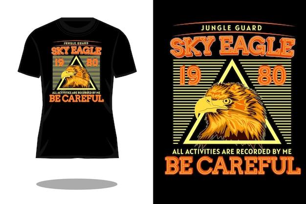 Projekt koszulki retro sky eagle