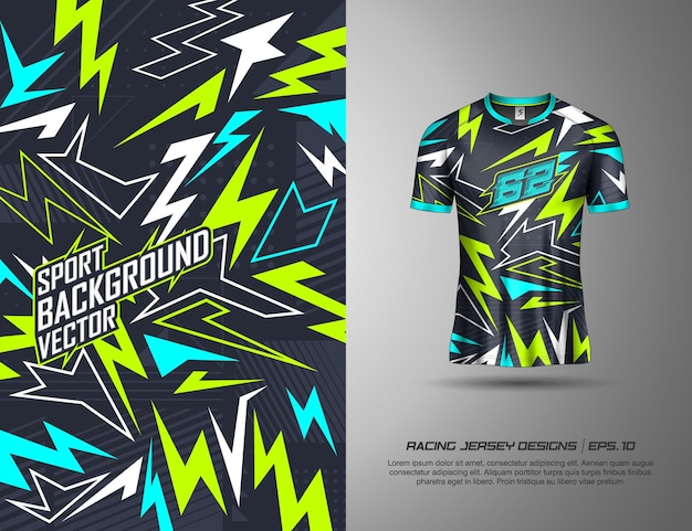 Projekt koszulki sportowej do wyścigów, koszulki, kolarstwa, piłki nożnej, gier
