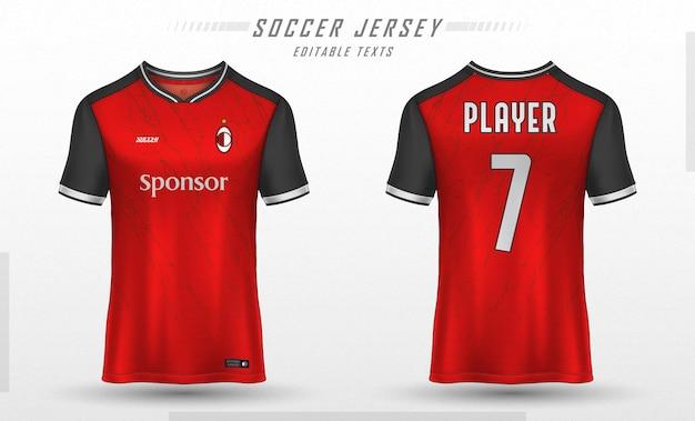 Projekt koszulki sportowej koszulki piłkarskiej
