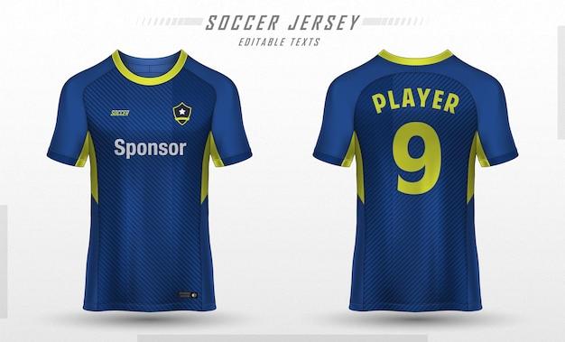 Projekt koszulki sportowej szablonu koszulki piłkarskiej