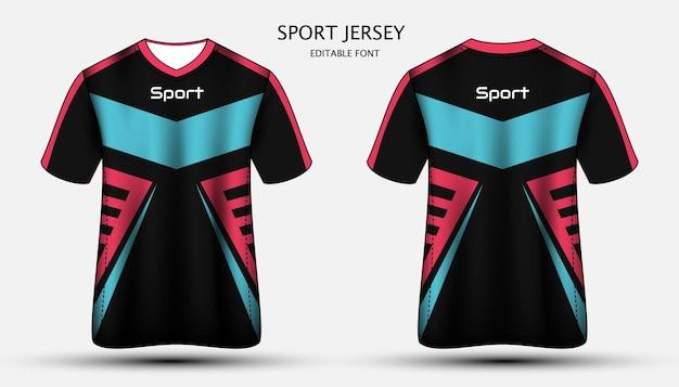 Projekt koszulki sportowej z jerseyu