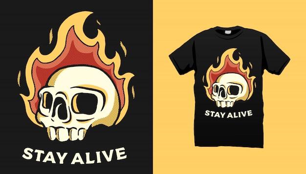 Projekt koszulki stay alive