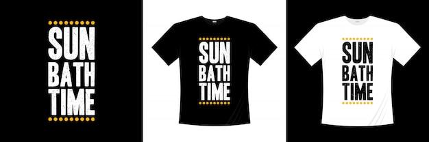 Projekt koszulki typografia czas kąpieli słonecznych