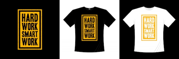 Projekt koszulki typografia do ciężkiej pracy